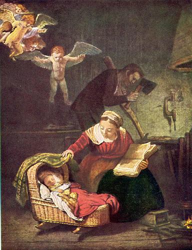 Rembrandt, La Sagrada Familia